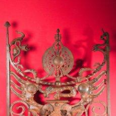 Antigüedades: EXTRAORDINARIA PIEZA DE MUSEO - PUERTA EN HIERRO FORJADO, CIRCA 1800. Lote 194007891