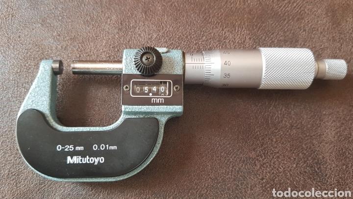 Antigüedades: Micrómetro Mitutoyo 0-25mm - Foto 2 - 194064136