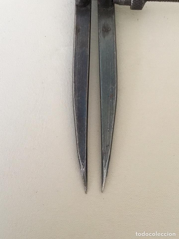 Antigüedades: Compas de puntas antiguo - Foto 5 - 194066457