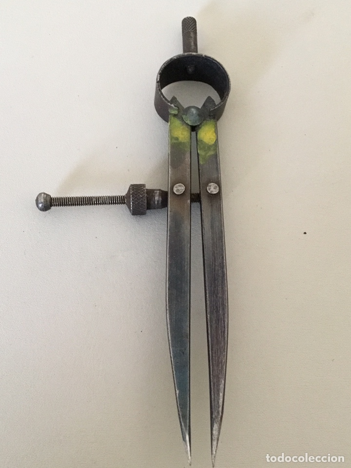 Antigüedades: Compas de puntas antiguo - Foto 6 - 194066457