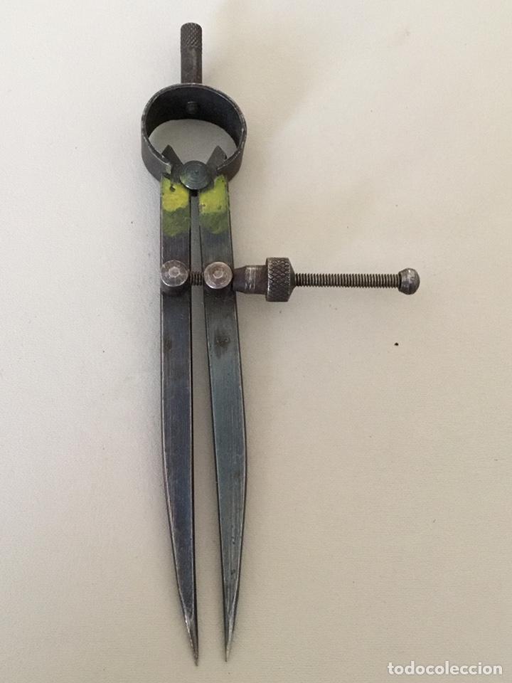 COMPAS DE PUNTAS ANTIGUO (Antigüedades - Técnicas - Herramientas Profesionales - Carpintería )