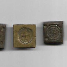 Antigüedades: JUEGO DE 4 PESAS EN BRONCE SIGLO XVIII CON CONTRASTES. Lote 194081420