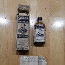 Antigüedades: BOTELLITA DE LINIMENTO SLOAN. Lote 194151176