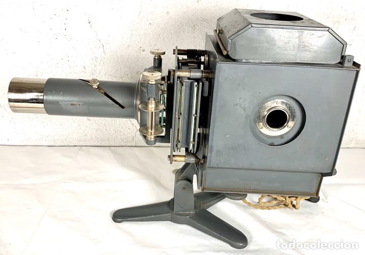 Antigüedades: Raro y antiguo proyector linterna mágica francés Le Mondial 37 - epidiascopio opacos - Foto 4 - 194152198