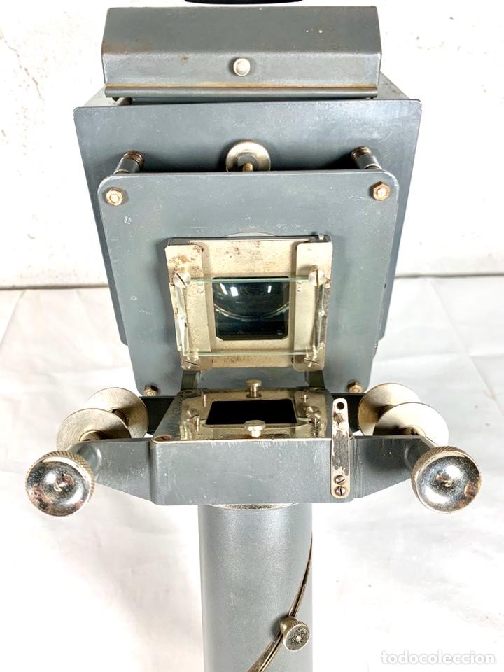 Antigüedades: Raro y antiguo proyector linterna mágica francés Le Mondial 37 - epidiascopio opacos - Foto 5 - 194152198