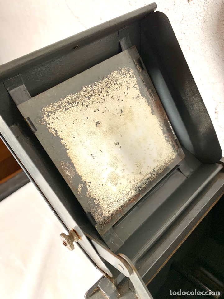 Antigüedades: Raro y antiguo proyector linterna mágica francés Le Mondial 37 - epidiascopio opacos - Foto 9 - 194152198