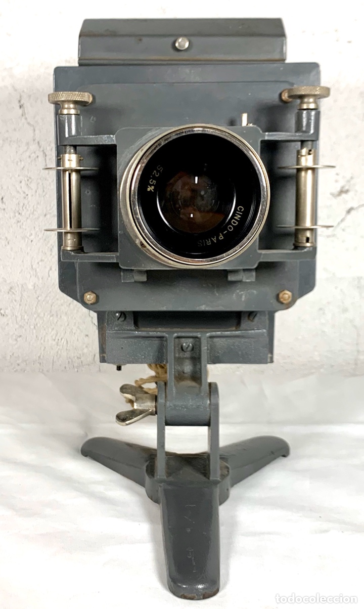 Antigüedades: Raro y antiguo proyector linterna mágica francés Le Mondial 37 - epidiascopio opacos - Foto 12 - 194152198