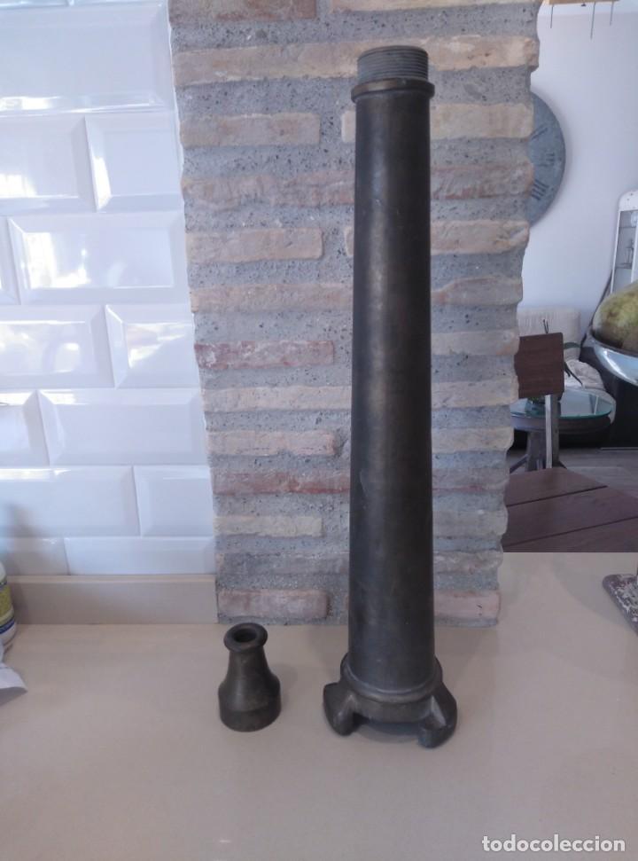 Antigüedades: Boca o lanza manguera bronce - Foto 5 - 194183912