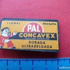 Antigüedades: FUNDA DE HOJA DE AFEITAR ' PAL CONCAVEX ' // ( HOJAS 3 ). Lote 194197761