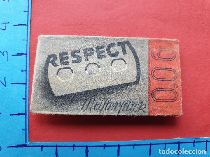 FUNDA DE HOJA DE AFEITAR ' RESPECT ' // ( HOJAS 3 ) (Antigüedades - Técnicas - Barbería - Hojas de Afeitar Antiguas)