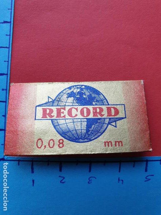 FUNDA DE HOJA DE AFEITAR ' RECORD ' // ( HOJAS 3 ) (Antigüedades - Técnicas - Barbería - Hojas de Afeitar Antiguas)