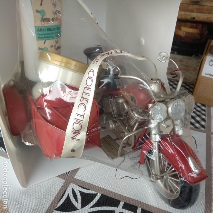 Antigüedades: Moto sidecar kit barbería juego de afeitar estilo vintage - Foto 3 - 194223815