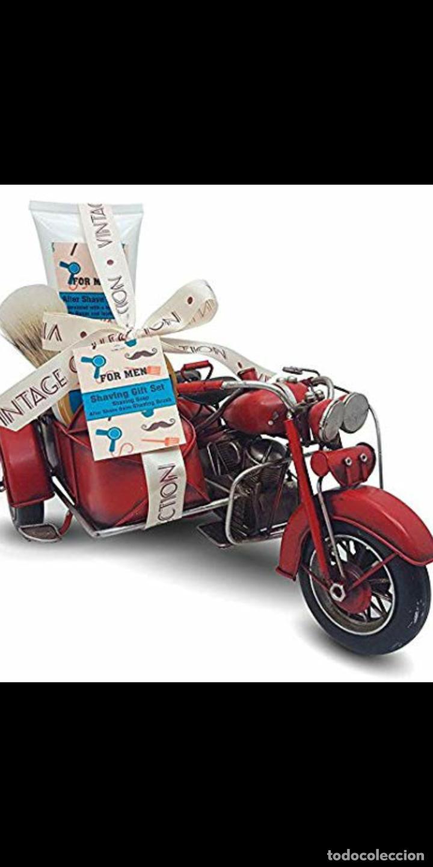 MOTO SIDECAR KIT BARBERÍA JUEGO DE AFEITAR ESTILO VINTAGE (Antigüedades - Técnicas - Barbería - Varios Barbería Antiguas)
