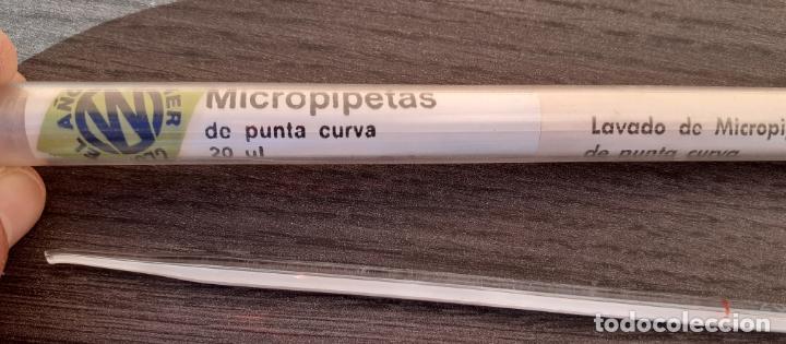 MICROPIPETA DE PUNTA CURVA FARMACIA LABORATORIO // SIN USO (Antigüedades - Técnicas - Herramientas Profesionales - Medicina)