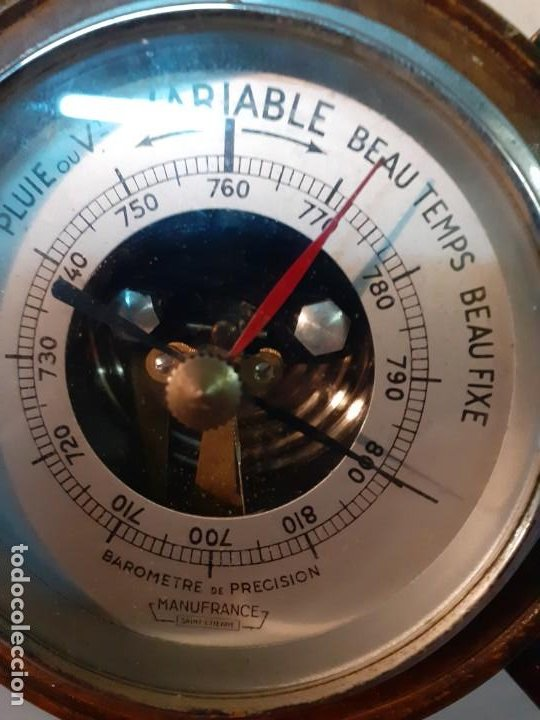 Antigüedades: Barometro nautico Manufrance - Foto 2 - 194241010