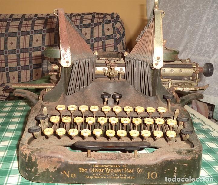 MAQUINA ESCRIBIR OLIVER TYPEWRITER N.º 10 CHICAGO 1912 - - MIRAR LAS FOTOS -- (Antigüedades - Técnicas - Máquinas de Escribir Antiguas - Otras)
