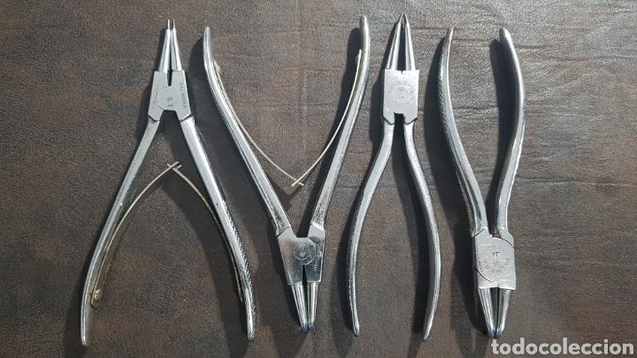 JUEGO DE 4 ALICATES PALMERA PARA CLIPS (Antigüedades - Técnicas - Herramientas Profesionales - Mecánica)