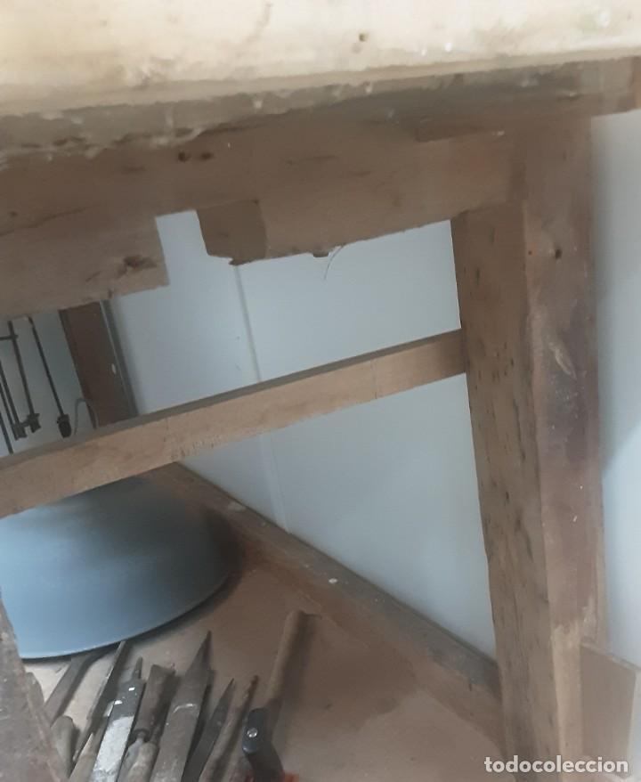 Antigüedades: Banco de trabajo para carpintero, ebanista. Años 60. Magnífico complemento de taller. - Foto 10 - 194265052