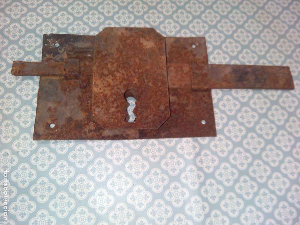 ANTIGUA CERRADURA SIGLOXIX (Antigüedades - Técnicas - Cerrajería y Forja - Cerraduras Antiguas)