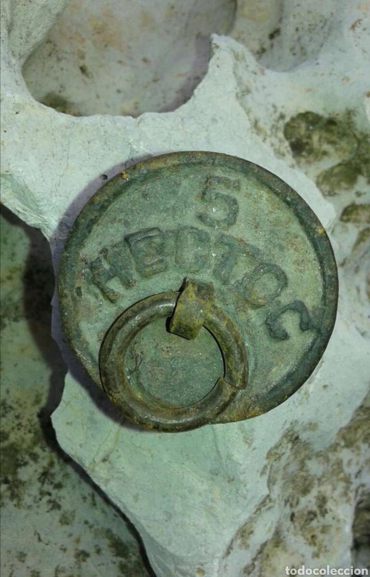 PESA 5 HECTOC (Antigüedades - Técnicas - Medidas de Peso Antiguas - Otras)