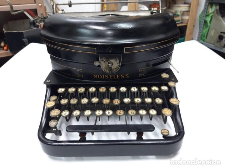 MÁQUINA DE ESCRIBIR. THE NOISELESS. U. S. A. 1.917. FUNCIONA. (Antigüedades - Técnicas - Máquinas de Escribir Antiguas - Otras)