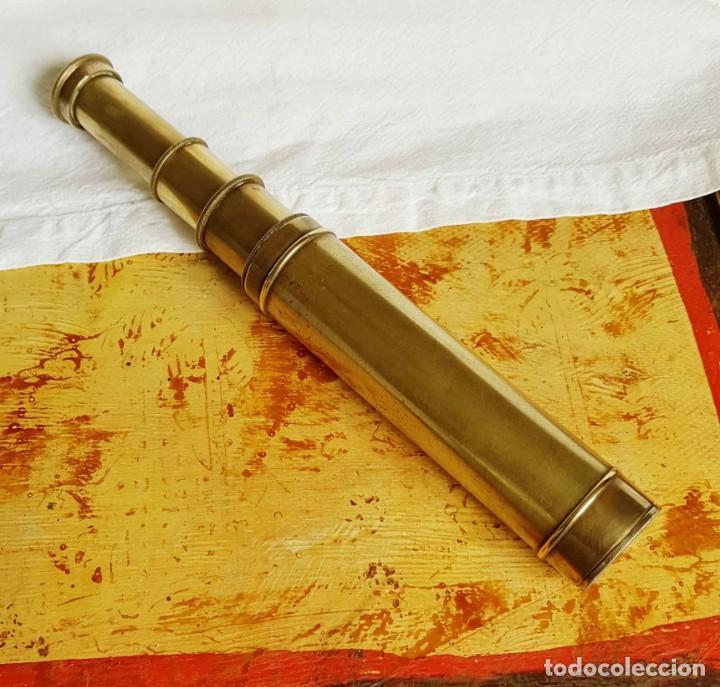 CATALEJO ANTIGUO, PRINCIPIOS S XX, DE 4 SECCIONES (Antigüedades - Técnicas - Instrumentos Ópticos - Catalejos Antiguos)