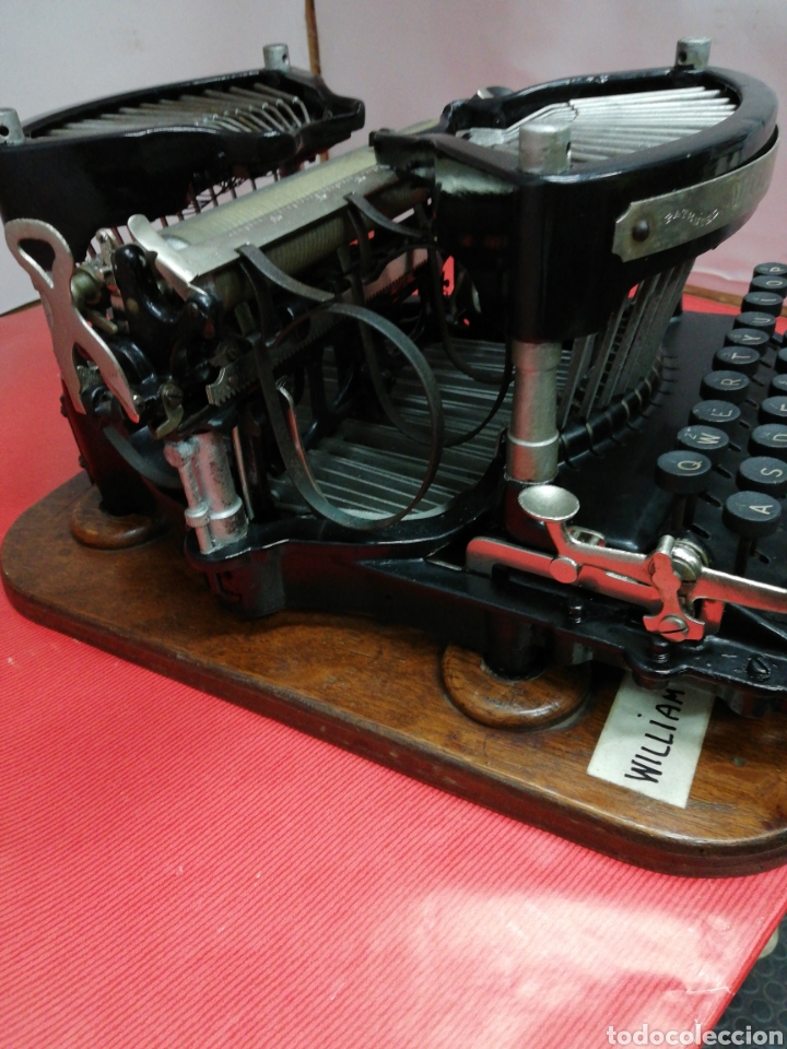 Antigüedades: Máquina de escribir Williams. Num. 2.U.S.A. 1.896. - Foto 3 - 194307225