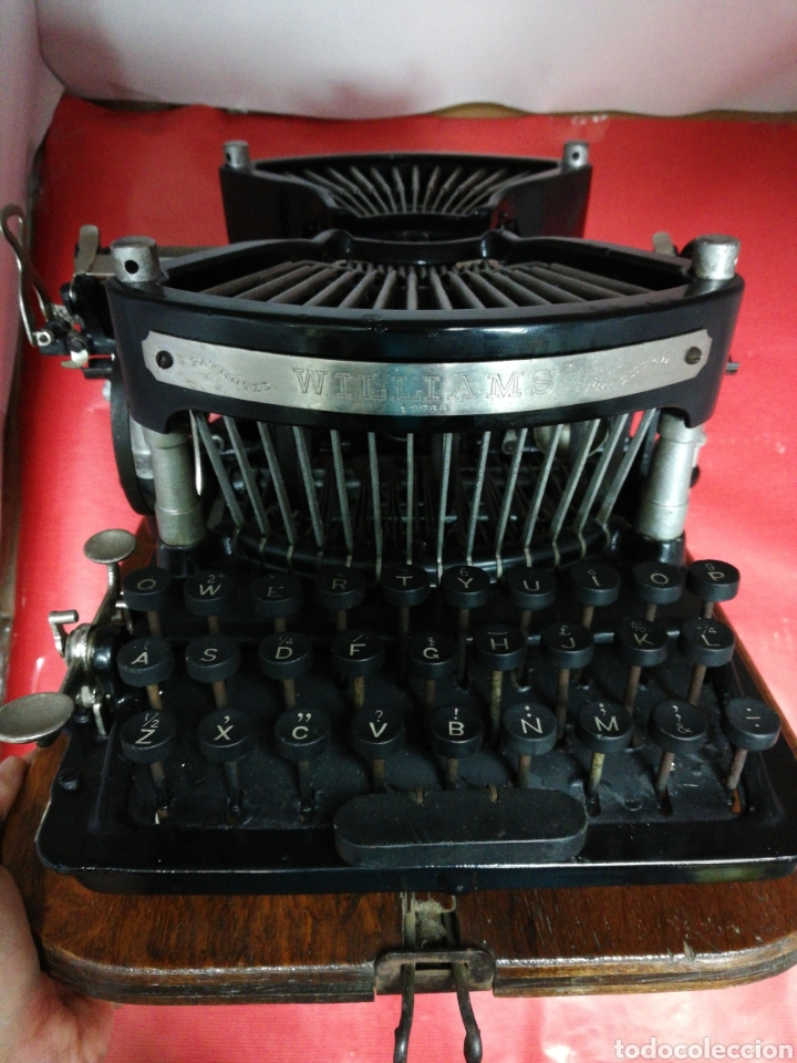 Antigüedades: Máquina de escribir Williams. Num. 2.U.S.A. 1.896. - Foto 6 - 194307225