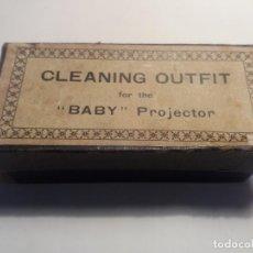 Antigüedades: KIT LIMPIEZA PROYECTOR PATHE BABY. Lote 194323658