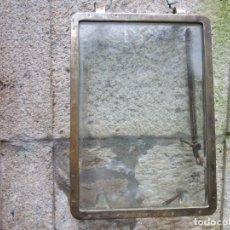 Antigüedades: ANTIGUO PORTILLO ' VENTANA ' DE BARCO, BRONCE, 10.5 KILOS 58X41X3.5CM + INFO. Lote 194326181