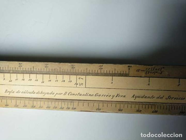 Antigüedades: REGLA DE CALCULO DE MADERA CON ESCALAS SOBRE PAPEL - DE PRINCIPIOS DEL PASADO SIGLO CALCULADORA - Foto 5 - 194327392
