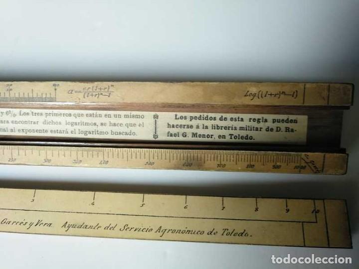 Antigüedades: REGLA DE CALCULO DE MADERA CON ESCALAS SOBRE PAPEL - DE PRINCIPIOS DEL PASADO SIGLO CALCULADORA - Foto 12 - 194327392