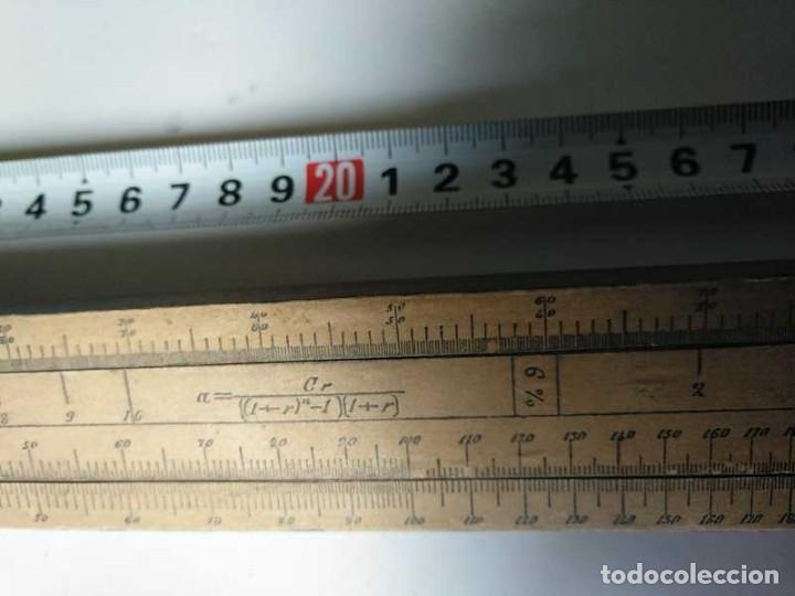 Antigüedades: REGLA DE CALCULO DE MADERA CON ESCALAS SOBRE PAPEL - DE PRINCIPIOS DEL PASADO SIGLO CALCULADORA - Foto 53 - 194327392
