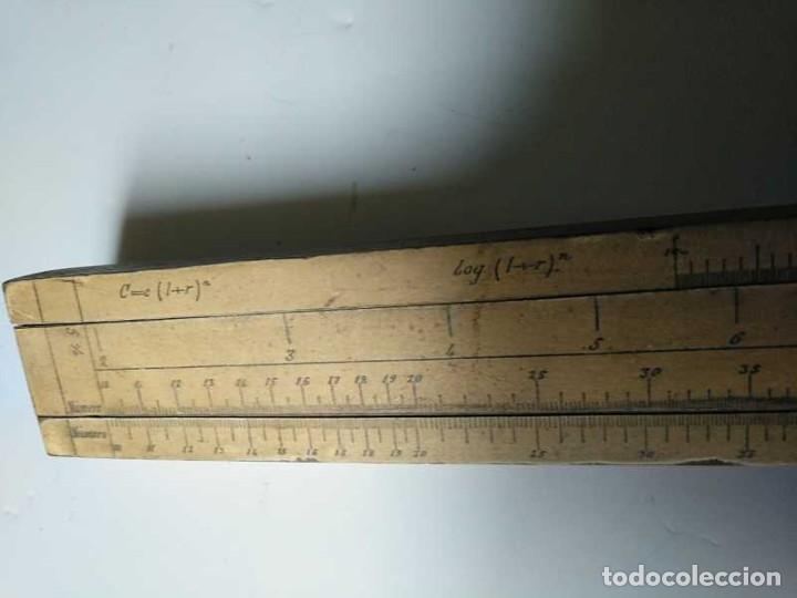 Antigüedades: REGLA DE CALCULO DE MADERA CON ESCALAS SOBRE PAPEL - DE PRINCIPIOS DEL PASADO SIGLO CALCULADORA - Foto 63 - 194327392