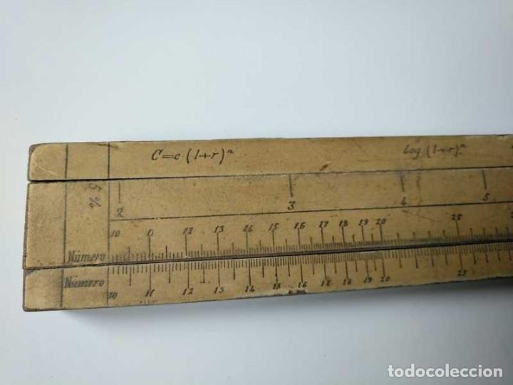 Antigüedades: REGLA DE CALCULO DE MADERA CON ESCALAS SOBRE PAPEL - DE PRINCIPIOS DEL PASADO SIGLO CALCULADORA - Foto 72 - 194327392