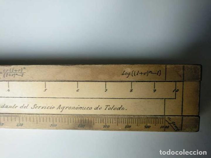 Antigüedades: REGLA DE CALCULO DE MADERA CON ESCALAS SOBRE PAPEL - DE PRINCIPIOS DEL PASADO SIGLO CALCULADORA - Foto 86 - 194327392
