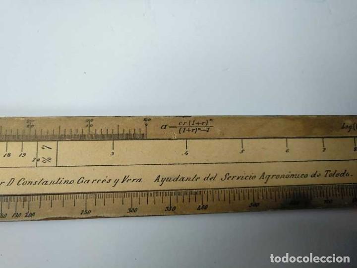 Antigüedades: REGLA DE CALCULO DE MADERA CON ESCALAS SOBRE PAPEL - DE PRINCIPIOS DEL PASADO SIGLO CALCULADORA - Foto 98 - 194327392