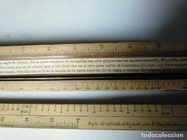 Antigüedades: REGLA DE CALCULO DE MADERA CON ESCALAS SOBRE PAPEL - DE PRINCIPIOS DEL PASADO SIGLO CALCULADORA - Foto 107 - 194327392
