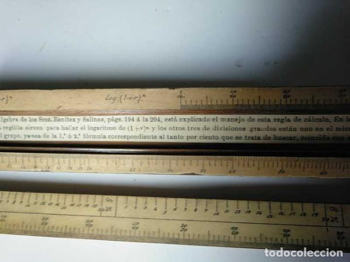Antigüedades: REGLA DE CALCULO DE MADERA CON ESCALAS SOBRE PAPEL - DE PRINCIPIOS DEL PASADO SIGLO CALCULADORA - Foto 109 - 194327392