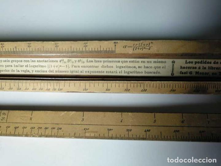 Antigüedades: REGLA DE CALCULO DE MADERA CON ESCALAS SOBRE PAPEL - DE PRINCIPIOS DEL PASADO SIGLO CALCULADORA - Foto 115 - 194327392