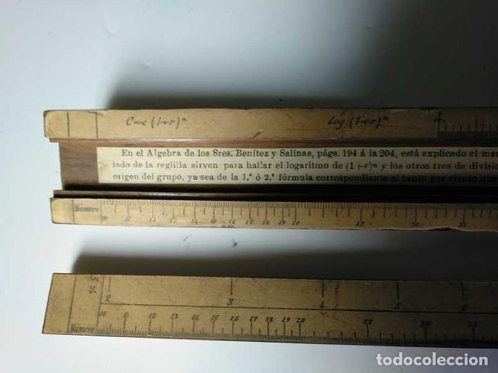 Antigüedades: REGLA DE CALCULO DE MADERA CON ESCALAS SOBRE PAPEL - DE PRINCIPIOS DEL PASADO SIGLO CALCULADORA - Foto 119 - 194327392