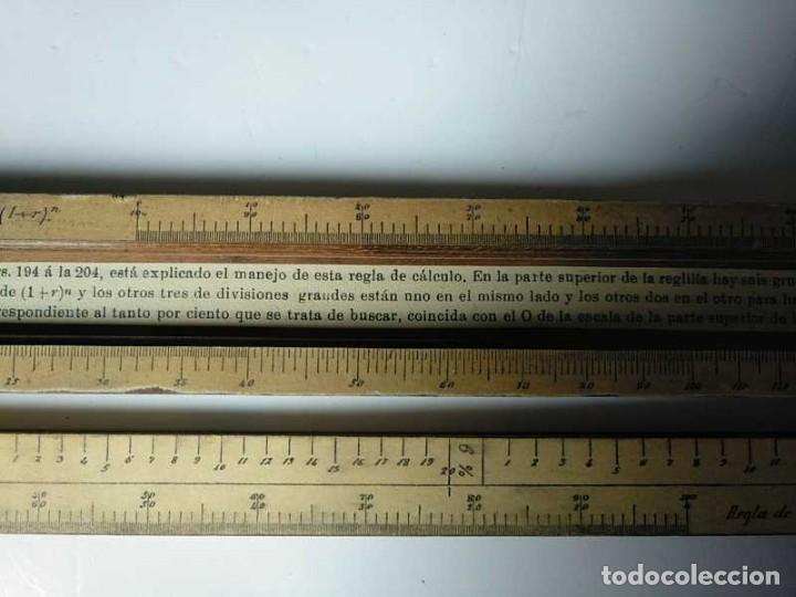 Antigüedades: REGLA DE CALCULO DE MADERA CON ESCALAS SOBRE PAPEL - DE PRINCIPIOS DEL PASADO SIGLO CALCULADORA - Foto 129 - 194327392