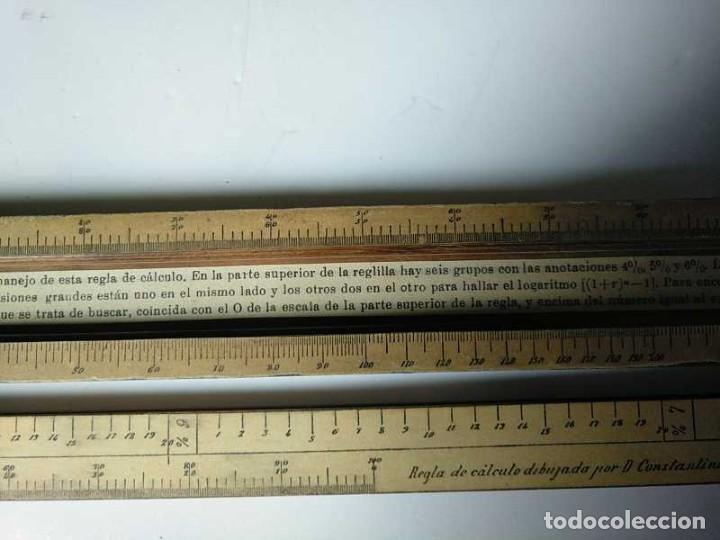 Antigüedades: REGLA DE CALCULO DE MADERA CON ESCALAS SOBRE PAPEL - DE PRINCIPIOS DEL PASADO SIGLO CALCULADORA - Foto 130 - 194327392
