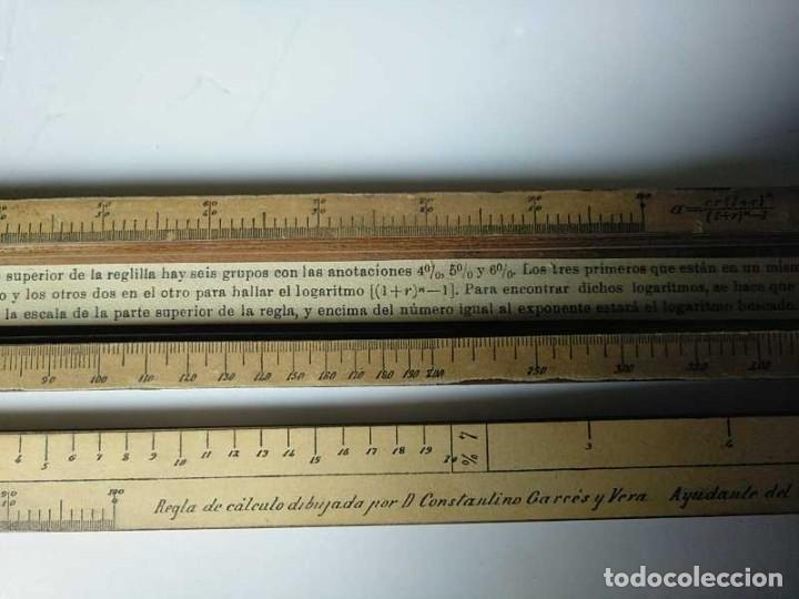 Antigüedades: REGLA DE CALCULO DE MADERA CON ESCALAS SOBRE PAPEL - DE PRINCIPIOS DEL PASADO SIGLO CALCULADORA - Foto 131 - 194327392