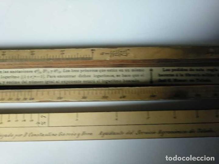 Antigüedades: REGLA DE CALCULO DE MADERA CON ESCALAS SOBRE PAPEL - DE PRINCIPIOS DEL PASADO SIGLO CALCULADORA - Foto 132 - 194327392