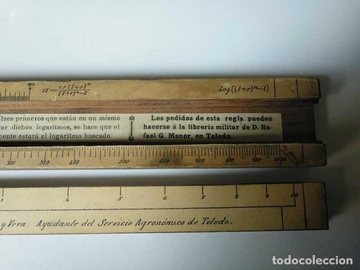 Antigüedades: REGLA DE CALCULO DE MADERA CON ESCALAS SOBRE PAPEL - DE PRINCIPIOS DEL PASADO SIGLO CALCULADORA - Foto 133 - 194327392