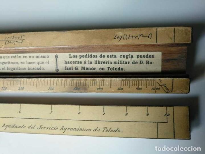 Antigüedades: REGLA DE CALCULO DE MADERA CON ESCALAS SOBRE PAPEL - DE PRINCIPIOS DEL PASADO SIGLO CALCULADORA - Foto 134 - 194327392