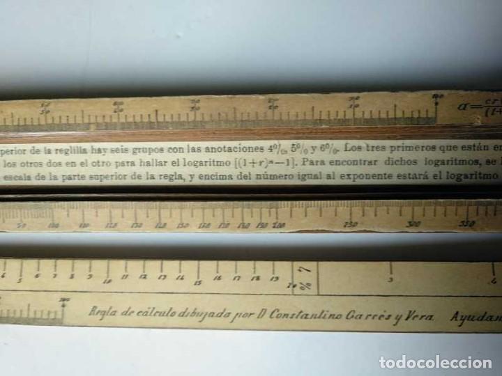 Antigüedades: REGLA DE CALCULO DE MADERA CON ESCALAS SOBRE PAPEL - DE PRINCIPIOS DEL PASADO SIGLO CALCULADORA - Foto 136 - 194327392