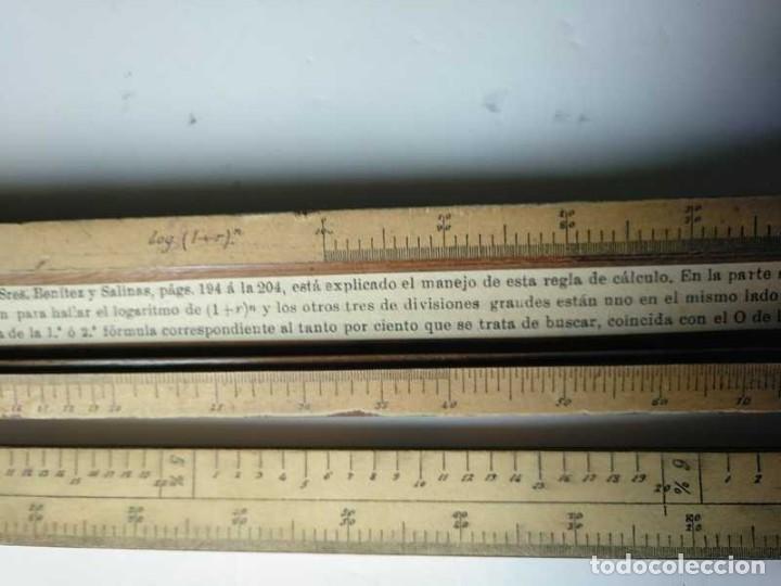 Antigüedades: REGLA DE CALCULO DE MADERA CON ESCALAS SOBRE PAPEL - DE PRINCIPIOS DEL PASADO SIGLO CALCULADORA - Foto 138 - 194327392