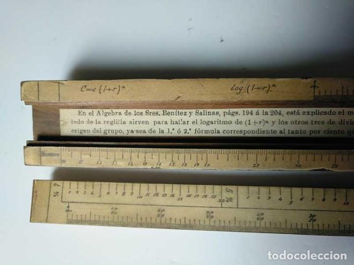 Antigüedades: REGLA DE CALCULO DE MADERA CON ESCALAS SOBRE PAPEL - DE PRINCIPIOS DEL PASADO SIGLO CALCULADORA - Foto 139 - 194327392